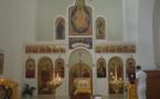 Mgr Nestor, évêque de Chersonèse, a célébré la Divine Liturgie à l'église de Annonciation à Barcelone
