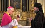 L'évêque de Pontoise a offert au diocèse de Chersonèse des reliques de sainte Geneviève
