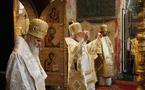 Mgr Nestor célèbre avec le patriarche Cyrille à la cathédrale de la Dormition du Kremlin