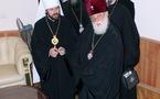 Le métropolite Hilarion rencontre le patriarche Elie de Géorgie