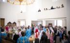 Mgr Nestor, évêque de Chersonèse, a célébré la Divine Liturgie de la fête de la Protection de la Vierge Marie en la cathédrale de la Sainte-Trinité