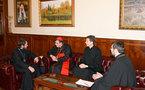Rencontre entre le métropolite Hilarion de Volokolamsk et le cardinal Kurt Koch
