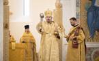 Mgr Nestor, évêque de Chersonèse, a célébré la Divine Liturgie en la cathédrale parisienne de la Sainte-Trinité