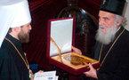 Le métropolite Hilarion de Volokolamsk reçu par le patriarche Paul de Serbie