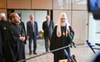 A la fin de sa visite à Strasbourg, le chef de l'Église Orthodoxe Russe a répondu aux questions des journalistes