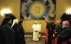 Le pape Benoît XVI reçoit les membres du forum orthodoxe-catholique