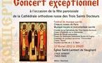 Un concert de musique religieuse aura lieu le 12 février à l'église Saint-Lambert de Vaugirard à Paris