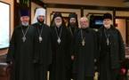 La délégation de l'Archevêché des églises orthodoxes russes en Europe occidentale est arrivée à Moscou