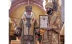 La distinction patriarcale a été conférée au Monseigneur Antoine, métropolite de Chersonèse et d'Europe occidentale