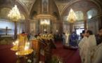 Mgr Jean, chef de l'Archevêché des paroisses de tradition russe, et Mgr Antoine, métropolite de Chersonèse et d'Europe occidentale, ont concélébré la divine liturgie à la cathédrale Saint Alexandre de la Neva