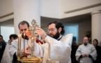 La Sainte Théophanie : métropolite Antoine a célébré la Divine Liturgie en la cathédrale de la Sainte Trinité à Paris