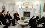 Rencontre entre le patriarche Cyrille et Mgr Vincenzo Paglia: le patriarche Cyrille exprime son soutien à l'Eglise en France