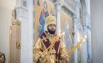 Son Éminence Antoine, l'éxarque du Patriarche, a célébré la Divine liturgie en la cathédrale de la Sainte-Trinité à Paris