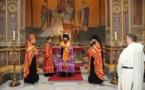 Mgr Nestor a célébré un office devant les reliques de saint Cyrille, apôtre des Slaves, à Rome