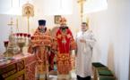 Monseigneur Antoine a conféré le droit de porter un épigonation au père Maxime Politov et a ordonné diacre Daniel Naberezhny