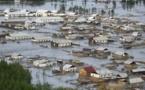 Quête en faveur des victimes des inondations dans les régions de l'Extrême Orient russe
