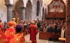 Pèlerinage des paroisses orthodoxes russes en Suisse à l'abbaye Saint-Maurice d'Agaune