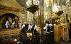 Un office d'action de grâce à la cathédrale de la Dormition de Moscou